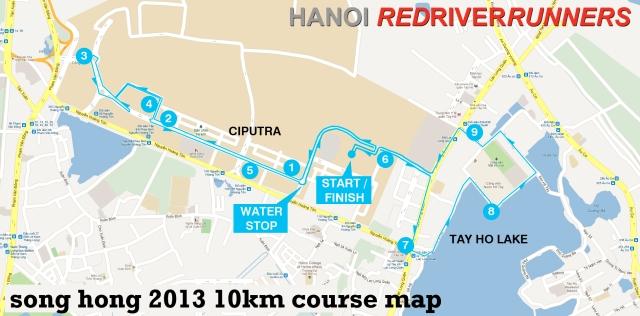 Song Hong 10k Course Map