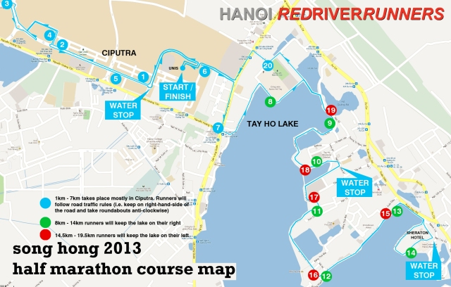 Song Hong Half Marathon Course Map