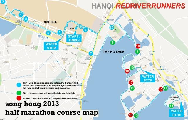 Song Hong Half Marathon Course Map