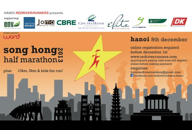 Song Hong Hanoi Half Marathon 10k 5k